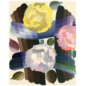 The Picturalist Framed Print on Rag Paper: Deco Roses in Yellow and Pink by Edouard Benedictus