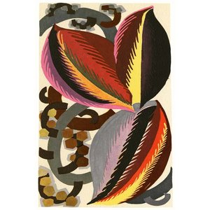 Print on Paper US250 - Cocoa Beans in Yellow, Red and Pink by Georges Benedictus