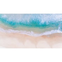 The Picturalist Framed Facemount Metal: Aqua Waves  Print on Metal