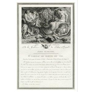 Print on Paper US250 - Les Fleuves de la Galerie du Palais Royal by Martin de Vos