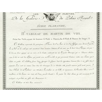 The Picturalist Framed Print on Rag Paper: De la Galerie de S.A.S Monseigneur Le Duc D'Orleans by Martin de Vos