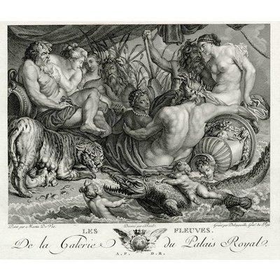 The Picturalist Framed Print on Rag Paper: Les Fleuves de la Galerie du Palais Royal by Martin de Vos