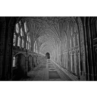 Framed Print on Rag Paper Gloucester Cathedral