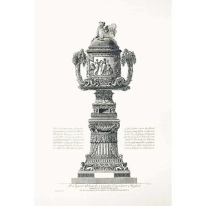 Framed Print on Rag Paper Piranesi Urn Dedicated to Edward Knight an English Lord