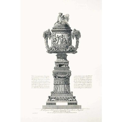 The Picturalist Framed Print on Rag Paper: Piranesi Urn Dedicated to Edward Knight an English Lord