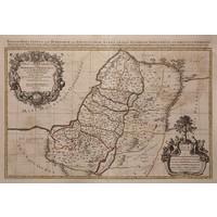 Framed Print on Rag Paper Antique Map of Judea 1653