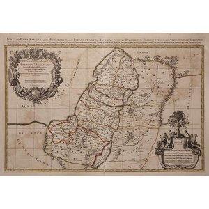 Framed Print on Rag Paper: Map of Judea 1653