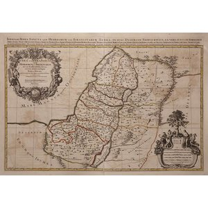 The Picturalist Framed Print on Rag Paper: Antique Map of Judea 1653