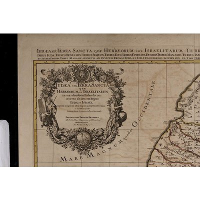 """Framed Print on Rag Paper: """"Antique Map of Judea"""" by Sanson Jaillot"""