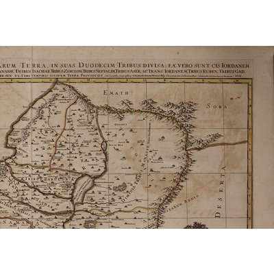"""The Picturalist Framed Print on Rag Paper: """"Antique Map of Judea"""" by Sanson Jaillot"""