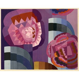 Framed Print on Rag Paper Geometric Roses