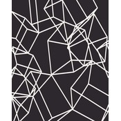 The Picturalist Framed Print on Rag Paper: White Cubes on Black 2