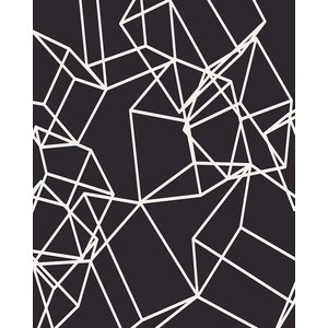 Framed Print on Rag Paper White Cubes on Black 2
