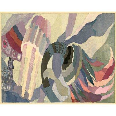 Framed Print on Rag Paper: Underwater Modernist by Edouard Benedictus