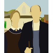 The Picturalist Framed Print on Rag Paper: American Gothic by Michael Schleuse