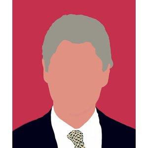 Framed Print on Rag Paper 42nd U.S. President