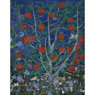"Framed Print on Rag Paper: ""Apple Tree"" by Ljubica Hajduka"