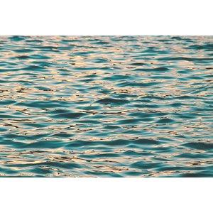 Ocean Deep Blue Print on Metal