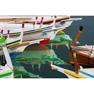 Facemount Metal - Colorful Boats UV Printed on Metal