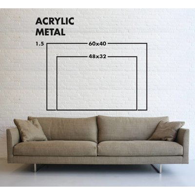 The Picturalist Framed Facemount Metal: Magnolia by E ncarnacion Portal Rubio
