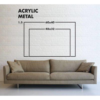 The Picturalist Framed Facemount Metal: Aqua Waves UV Printed on Metal
