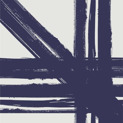 The Picturalist Framed Print on Canvas: Blue Lines by Alejandro Franseschini Canvas