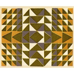 Print on Paper US250 - Geometric in Gold and Grey