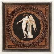Framed Print on Rag Paper: Eros Leaning on a Plinth W. Hamilton