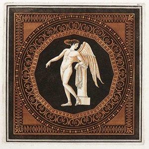 Framed Print on Rag Paper Eros Leaning on a Plinth