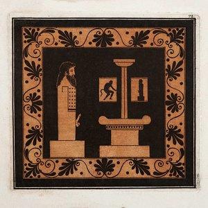 Framed Print on Rag Paper Ithyphallic Hermes Doric Column
