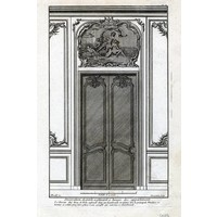 Framed Print on Rag Paper: Architectural Elevation for Entrance Door