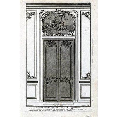 Framed Print on Rag Paper: Architectural Elevation for Entrance Door
