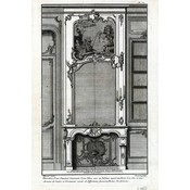 The Picturalist Framed Print on Rag Paper: Architectural Details French Fireplace Mantel