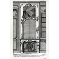 Framed Print on Rag Paper: Architectural Details French Fireplace Mantel