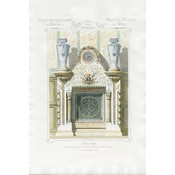 The Picturalist Framed Print on Rag Paper: Architectural Colored Elevation of a French Chimney Mantel