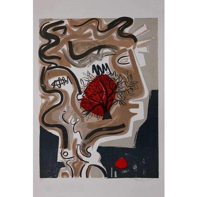 Framed Print on Rag Paper: The Tree of Alexandre by M. Blumberg