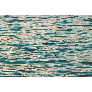 Framed Print on Rag Paper Ocean Deep Blue