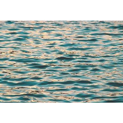 Framed Print on Rag Paper: Ocean Deep Blue