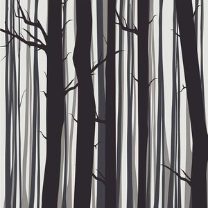 Framed Print on Rag Paper: Trees by Alejandro Franseschini