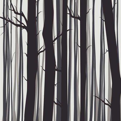Framed Print on Rag Paper Trees by Alejandro Franseschini
