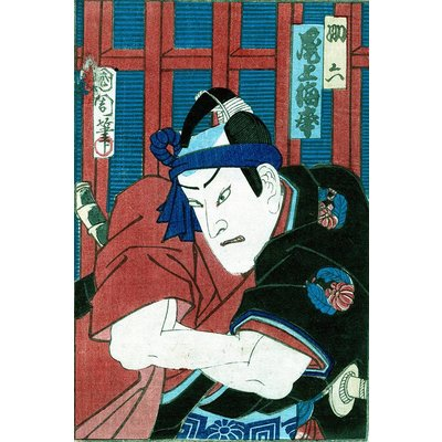 Framed Print on Rag Paper: Japanese Kabuki Sketches by Toyohara Kunichika 3