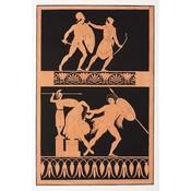 Framed Print on Rag Paper: Painting from an Etruscan vase [Pl. XV] MILLIN de Grandmaison