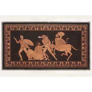 Framed Print on Rag Paper: Hercules fighting Centaurs