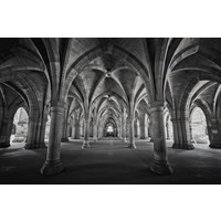 Framed Print on Rag Paper: Perspective Cloisters