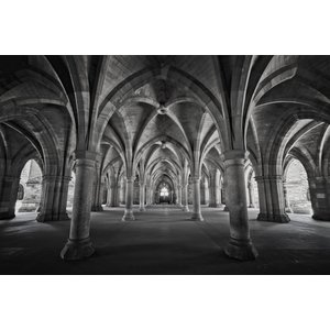 Framed Print on Rag Paper Perspective Cloisters