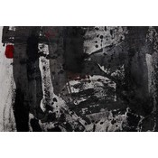 "Framed Print on Rag Paper: ""Study in Red"" by Evelyn Ogly"