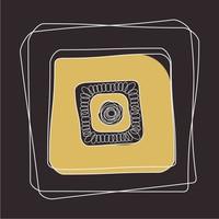 Framed Print on Rag Paper Modernist Plate Gold 3