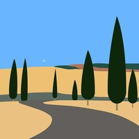 The Picturalist Framed Print on Rag Paper: Tuscan Landscape
