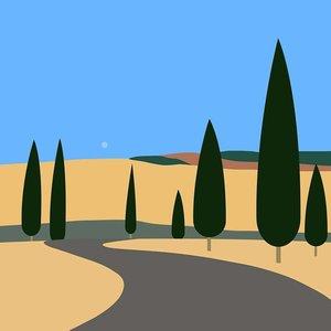 The Picturalist Framed Print on Rag Paper: Tuscan Landscape