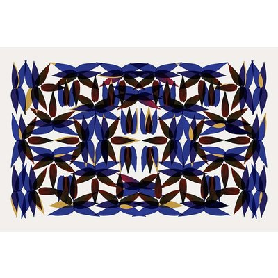 Framed Print on Rag Paper: Kaleidoscope View in Blue
